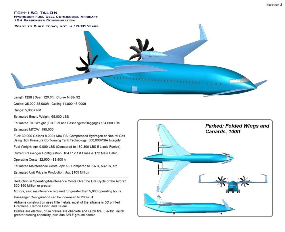 IO Aircraft - FCH150 Talon Hybrid Fuel Cell Powered